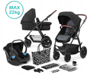 Kinderkraft Multipurpose 3 in 1 XMOOV Black Incl Autostoel-Mommy Bag