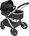 Maxi-Cosi Zelia 2.0 Essential Black Grey Alu Frame + Black Leather Grip