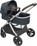 Maxi-Cosi Zelia 2.0 Essential Graphite Grey Alu Frame + Dark Brown Leather Grip