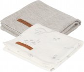 Little Dutch Swaddle 2 Stuks Ocean White / Pure Grey 70 x 70 cm