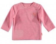 BESS T-Shirt Velvet Striped Pink