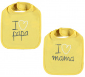 Babylook Slab I Love Misted Yellow 2-Pack