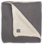 Jollein Ledikantdeken Teddy Bliss Knit Storm Grey 100 x 150 cm