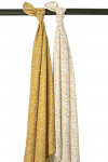 Meyco Swaddle Cheetah Honey Gold 2-Pack