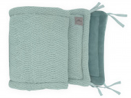 Jollein Box/Bedbumper River knit Ash Green