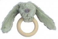 Happy Horse Rabbit Richie FSC Wooden Teething Ring Green 12 cm