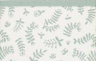 Briljant Wieglaken Botanical Organic Stonegreen  75 x 100 cm