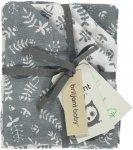 Briljant Washandje Botanic Organic Blauw Grijs  4-Pack