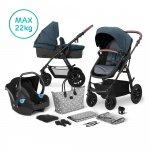 Kinderkraft Multipurpose 3 in 1 XMOOV Denim Incl Autostoel-Mommy Bag
