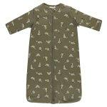 Babylook Slaapzak Winter Afritsbare Mouw Raccoon Dusty Olive 90cm