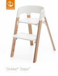 Stokke® Steps™ Chair Seat White Legs Beech Wood Natural