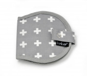 KipKep Napper Borstkompressenetui Crossy Grey