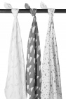Meyco Hydrofiele Swaddles 3pack  Feather Grijs