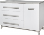 Commode 3 Laden/1 Deur Artic