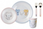 Bambolino 5-Delig Servies Woezel & Pip Baby Pink