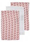 Meyco Washandjes Knitted Heart 3Pack