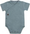 Baby's Only Romper Melange Stonegreen