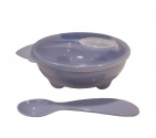 Babydump Collectie Yummy Bowl + Spoon Blue