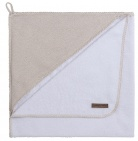 Baby's Only Badcape Sparkle Goud-Ivoor Mêlee  75 x 85 cm