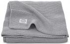 Jollein Wiegdeken Basic Knit Stone Grey 75 x 100 cm