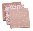 Briljant Hydrofiele Monddoekjes Spots Grey Pink (3 stuks)