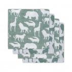 Jollein Hydrofiele Luiers (4 stuks)  Safari Forest Green