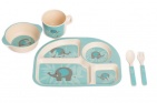 Bo Jungle B-Corn Dinner Set Olifant Blauw