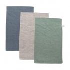 Little Dutch Washand 3Stuks Pure Mint/Grey/Blue 21 x 14 cm