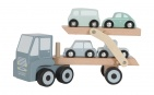 Little Dutch Houten Truck Oplegger 4 Voertuigen