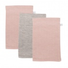 Little Dutch Washand 3Stuks Pure Pink/Grey/Pink 21 x 14 cm