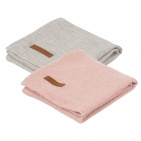 Little Dutch Swaddle 2Stuks Pure Pink/Grey  70x70