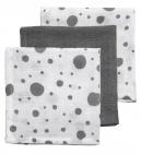 Meyco Hydrofiele Monddoekjes 3pack Dots Grijs/Wit