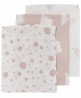 Meyco Hydrofiele Washandjes 3pack  Print Roze