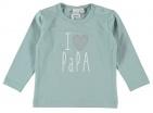 Babylook T-Shirt Papa Blue Surf