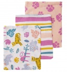 Briljant Hydrofiele Washandjes Jungle Dusk Pink (3 stuks)