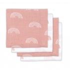 Jollein Hydrofiele Multidoek Small 70x70 Rainbow Blush Pink 4pck