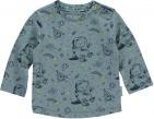 Quapi T-Shirt Xander Mid Blue Space Dino