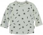 Quapi T-Shirt Xari White Grey Text