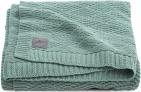 Jollein Wiegdeken River Knit Ash Green   75 x 100 cm