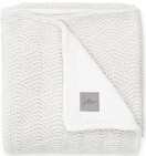 Jollein Ledikantdeken River Knit Cream White/Coral Fleece 100 x 150 cm