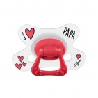Difrax Fopspeen I Love Papa Natural 6 mnd+