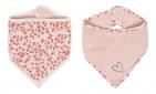 Bébé-Jou Bandana Slab Leopard Pink (2 stuks)