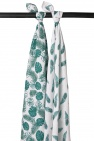 Meyco Swaddle Tropcial Leaves / Peacock 3pck