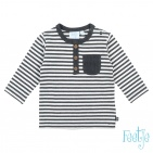 Feetje T-Shirt Mini Person Streep Antraciet
