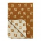 Meyco Deken Block Stripe Camel/Offwhite  75 x 100 cm
