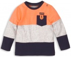 Meer info over Dirkje T-Shirt Navy Grey Melee Orange