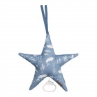 Little Dutch Ocean Blue Ster Muziekdoos 27 x 27 cm
