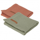 Little Dutch Multidoek 2 Stuks Pure Olive/Rust  70x70