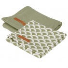 Little Dutch Multidoek 2 Stuks Sunrise Olive / Pure Olive  70x70