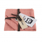 Briljant Hydrofiele Monddoekjes Uni Pink (3 stuks)